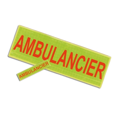 Badge et barrette AMBULANCIER
