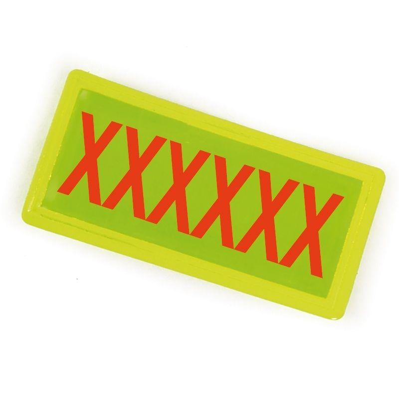 Badge 100 x 50 personnalisé Jaune pour THORAX / HOLSTER 2