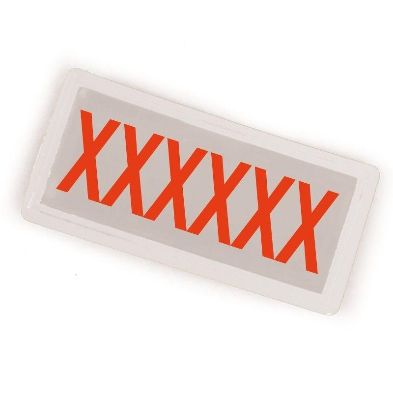 Badge 100 x 50 personnalisé Blanc pour THORAX